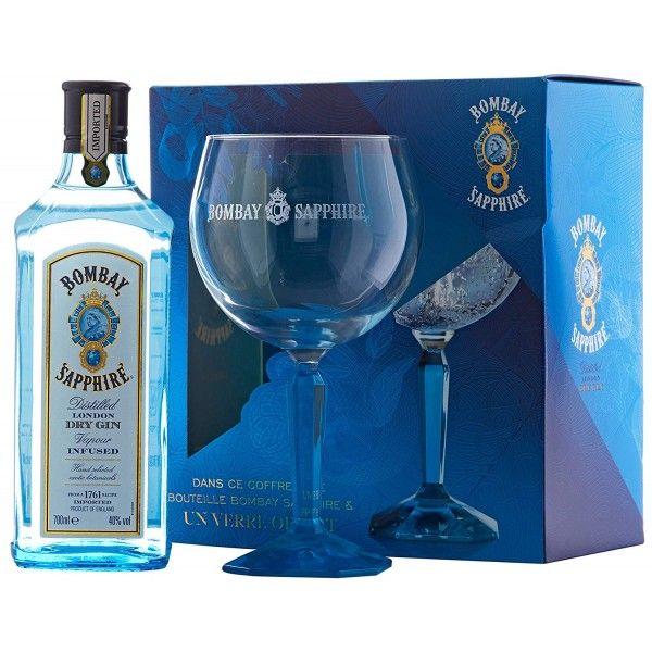 Coffret Bombay Sapphire Dry Gin + 1 Verre