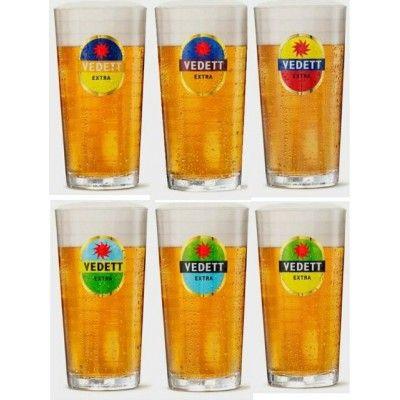 Verre à bière VEDETT EXTRA 33cl (différentes couleurs aléatoires)