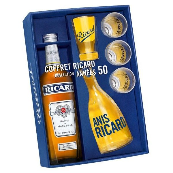 Coffret Ricard Années 50 - 70cl - Edition spéciale 4 verres & carafe