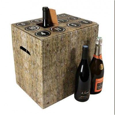Calendrier de l'avent de vins mixtes de France de qualité : 6 bouteilles 75 cl (3 rouges 2 blancs 1 rosé) + 8 accessoires