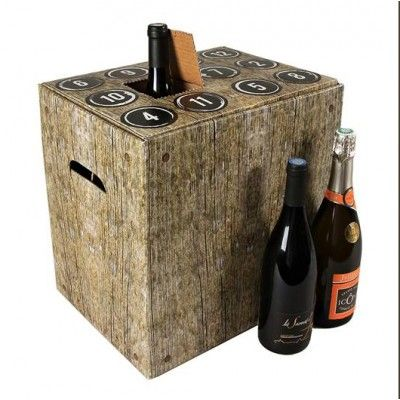 Calendrier de l'avent de vins mixtes de France Haut de gamme : 6 bouteilles 75 cl (6 rouges 4 blancs 2 rosés) + 8 accessoires
