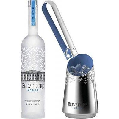 Vodka Belvedere - coffret Ice duo 40% (seau à glace + pince à glaçons)