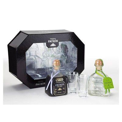 Coffret PATRON Coffret Silver et XO Café Tequila avec 2 Verres