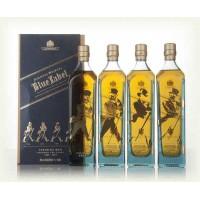 Coffret Johnnie Walker Blue Label Striding Man - 4*20cl