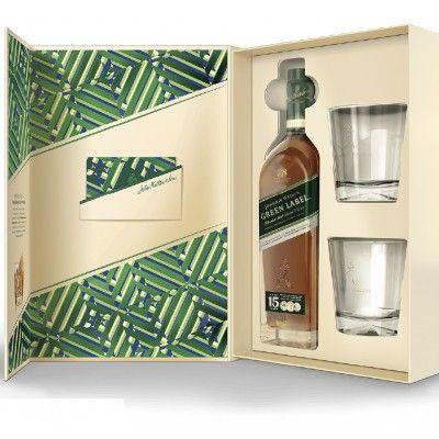 Coffret Johnnie Walker Green Label 15 ans + 2 verres