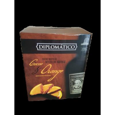 Coffret Diplomatico Cacao & Orange : 3 bouteilles 70 cl + 2 ardoises + 2 verres
