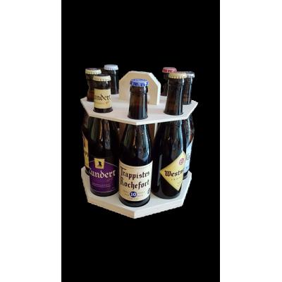 Carrousel bois 8 bières trappistes belges et hollandaises