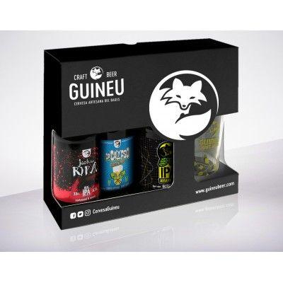 Coffret Guineu IPA 3x33cl + 1 verre