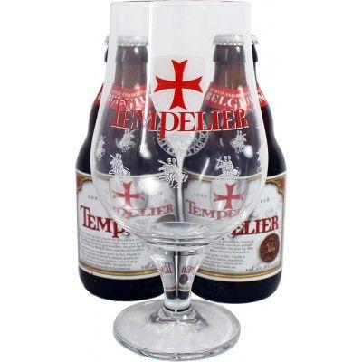 Coffret Tempelier 2x33cl + 1 verre