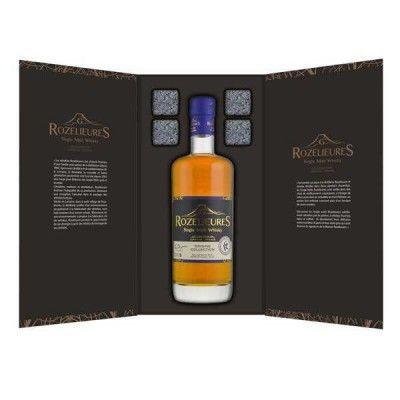 Coffret Rozelieures Single Malt Origine + 4 pierres à whisky