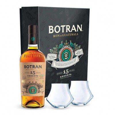 Coffret Botran 15 ans Reserva + 2 verres