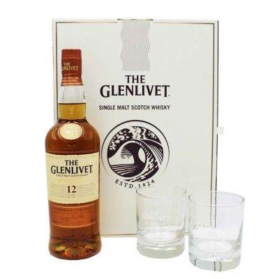 Coffret Glenlivet First Fill 12 ans 70cl + 2 verres