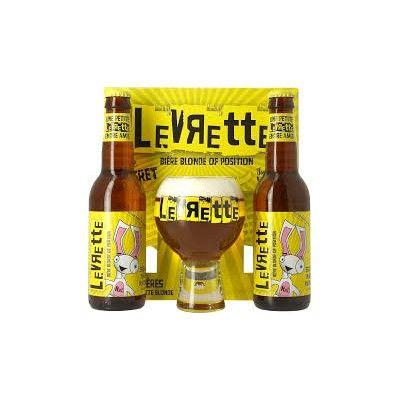 Coffret Levrette Blonde 2x33cl + 1 verre