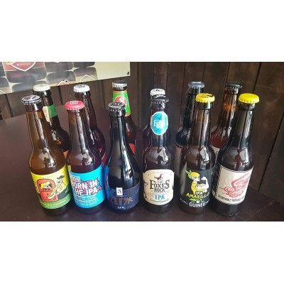 Lot de 12 bières IPA internationales