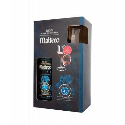Coffret Malteco 10 ans + 2 verres