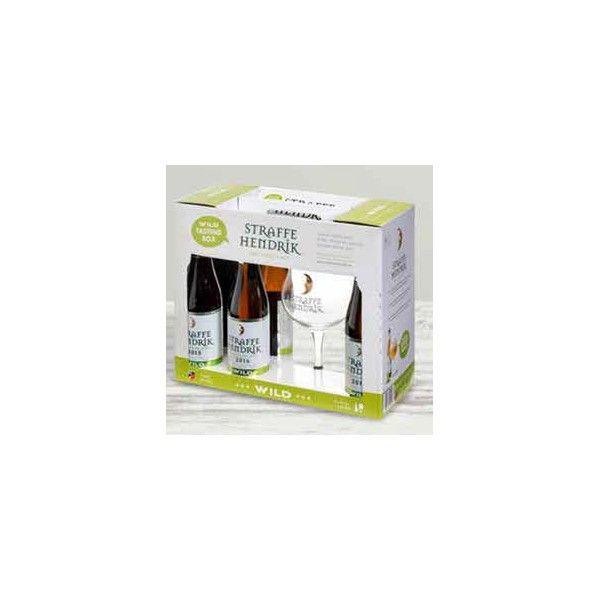 Coffret Straffe Hendrink Wild Tasting Box 6x33cl + 1 verre