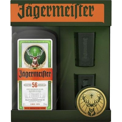Jägermeister 70cl coffret deux verres