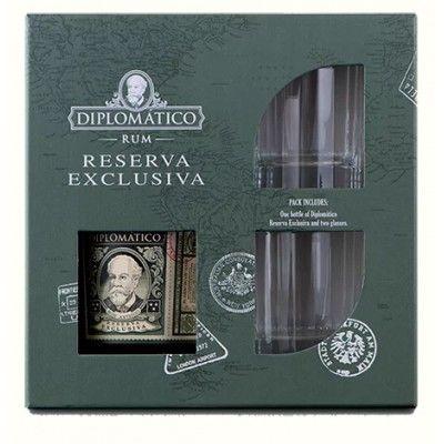 Coffret Diplomatico Reserva Exclusiva + 2 verres