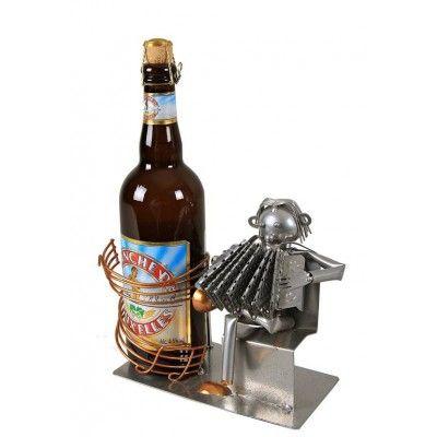 Porte-bouteille de Vin ou de bière MUSICIEN ACCORDEON