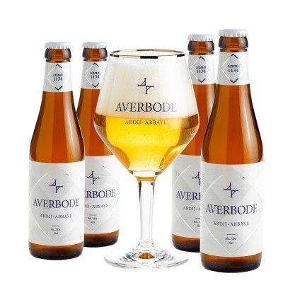 Coffret Averbode 4x75cl + 1verre