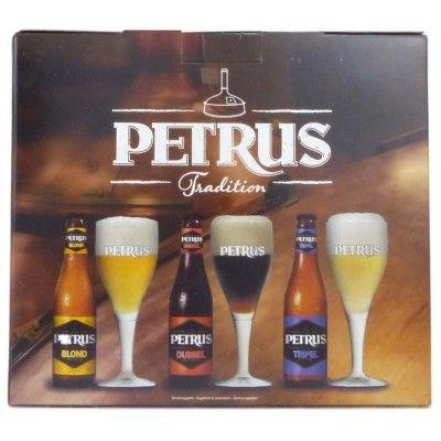 Coffret Petrus 3x33cl + 1 verre