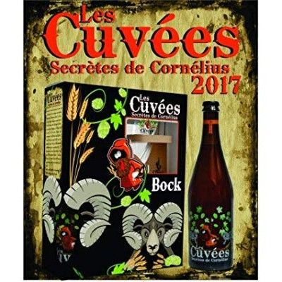 Coffret Les Cuvées secrètes de Cornelius 1x75cl + 1 verre La Corne
