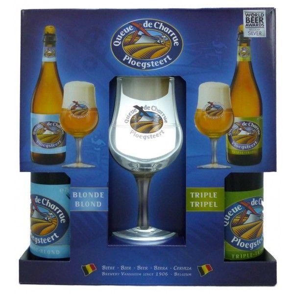 Coffret Queue de Charrue 2x75cl + 1 verre