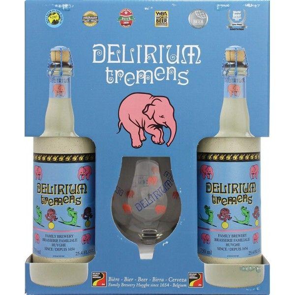 Coffret Delirium 2x75cl + 1 verre