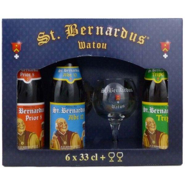 Coffret St.Bernardus 6x33cl + 2 verres