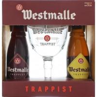 Coffret Westmalle 2x33cl + 1 verre