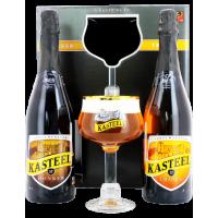 Coffret Kasteel 2x75cl + 1 verre