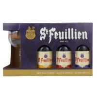 Coffret St Feuillien 3x33cl + 1 verre