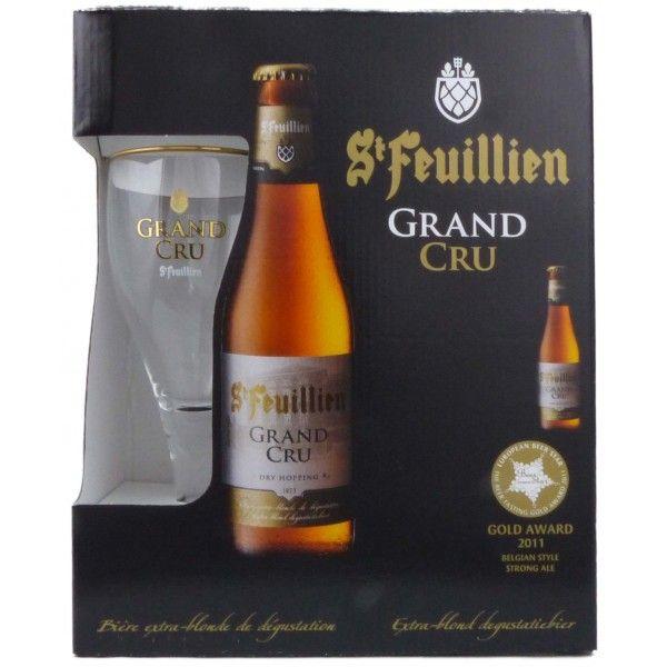 Coffret St Feuillien Grand Cru 3x33cl + 1 verre