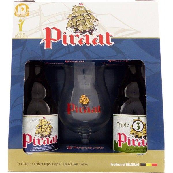 Coffret Piraat 2x33cl + 1 verre