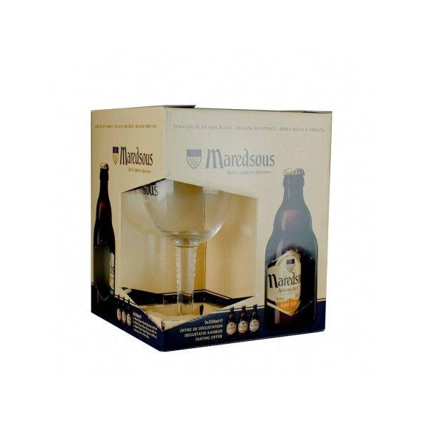 Coffret Maredsous 3x33cl + 1 verre