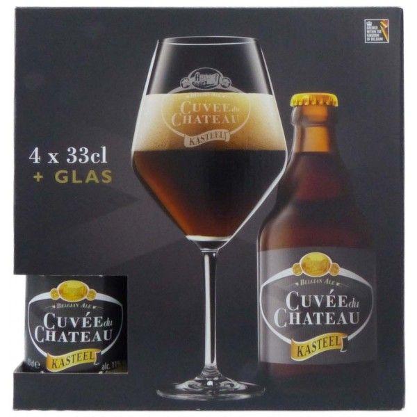 Coffret Cuvée du Château 4x33cl + 1 verre