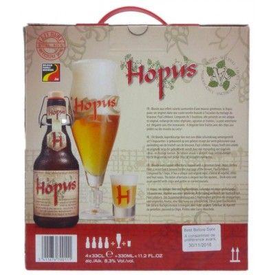 Coffret Hopus 4x33cl + 1 verre + 1 Shooter